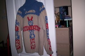 heavy duty Cowichan Valley BC hand   knitted sweater