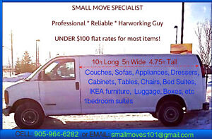 UNDER $100 FLAT RATES – SMALL MOVES. HANDYMAN. C: 905-964-6282