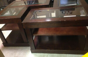 Coffee Table – Wood frame with Glass panels