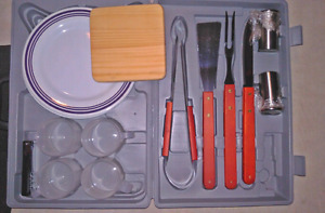 16 piece camping kitchen equipment + carrying case