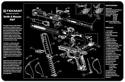 For Smith & Wesson M&P 9 M&P-9MM Armorers Gun Cleaning Bench Mat
