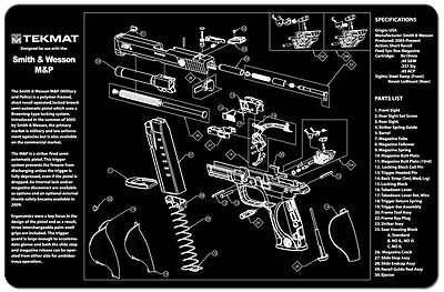 Tek Mat For Smith & Wesson M&P 9mm .40 45ACP  Armorers Gun Cleaning Bench Mat