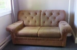 Loveseat , twin pull-out bed