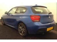 2014 BLUE BMW M135i 3.0 T SPORT PETROL MANUAL 3DR HATCHBACK CAR FINANCE FR £62PW