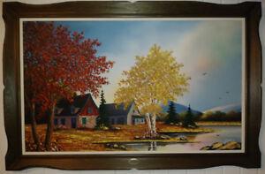 Peinture automne de l'artiste peintre québécois Rolland Drouin