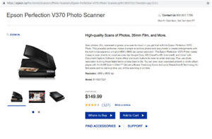 EPSON PERFECTION PHOTO SCANNER V370 - NEW MINT