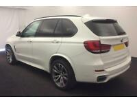 2016 WHITE BMW X5 3.0 XDRIVE40D M SPORT 7 SEAT DIESEL 4X4 CAR FINANCE FR £138 PW