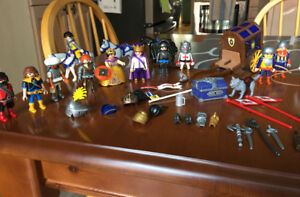 Playmobil Assorted Knight Figures with Carriage and Horses