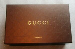 "AUTHENTIC GUCCI BROWN BOX 12.5""x7.5""x4"" SHOE GIFT HEAVY DUTY"