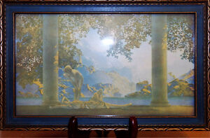 """Maxfield Parrish - """"Daybreak"""" - 1922 - Vintage Framed Lithograph"""