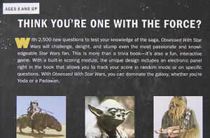 Obsessed with Star Wars Trivia Book – Hardcover Kitchener / Waterloo Kitchener Area image 4