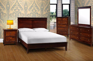 6 PIECE SOLID WOOD BEDROOM SET !!! FREE DELIVERY IN CALGARY !!!