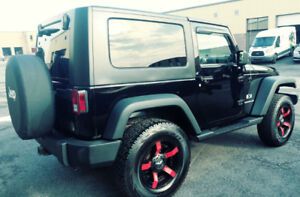 JEEP WRANGLER 2007 V6 3.8L NOIR  EN EXCELLENTE CONDITION