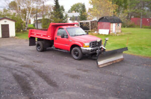 2000 Ford F 350 Super Duty 4x4 Dually with Plow