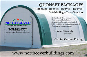 Portable Quonset Package - Fabric covered steel structure