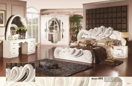 Importer direct to public Brand new white 5 PCS bedroom suit$1999