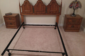 Double Bed with Matching End Tables
