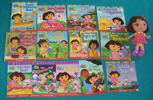 Dora Book Collection and stuffie