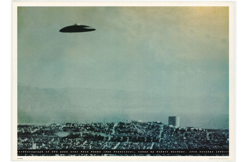 POSTER : SCIENCE FICTON :UFO  SEEN SAN FRANCISCO- FREE SHIPPING ! #FPO347 LW18 K