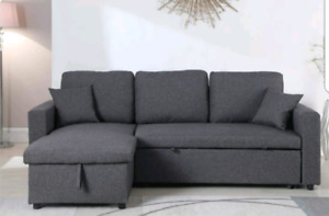 Grey sectional with storage
