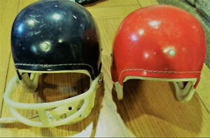 Vintage Childs Cooper FH2 Football Helmets Circa 1960's