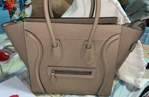 100% Authentic Like New Céline Micro Luggage Tote