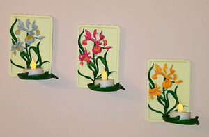 Home-indoor - Very cute wall-hanging handpainted tealight holder