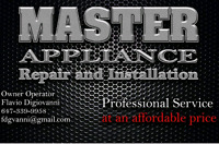 Master Appliance Repair And installation