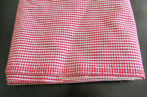 Red White Check Canvas Fabric