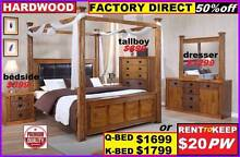 New Queen Bed Hardwood 4 Poster Canopy Bed $1699. King $1799. Ipswich Region Preview