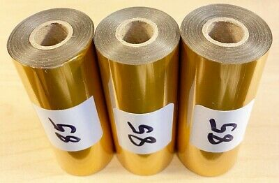 Kingsley Hot Stamp Stamping Foil - Satin Gold -3 Rolls - 3 X 95 -free Shipping