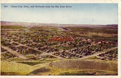CANON CITY, CO, AND ORCHARDS FROM THE SKY LINE (The Orchard Colorado)