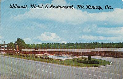 McKenney VA * Wilmurt Motel & Restaurant   1950s * Dinwiddie Co. S of Petersburg