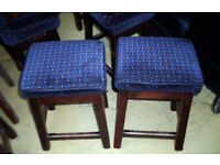 EIGHT CLASSIC 1960s SHORT PUB STOOLS - MICROPUB, BREW PUB, MAN CAVE, HOME BAR, DECKING, BREW, ALE