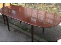 VERY LARGE TABLE AND 8 CHAIRS