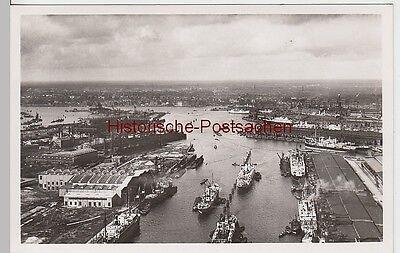 (93555) Foto AK Hamburg, Hafen Gesamtansicht, vor 1945