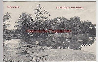 (111772) AK Gravenstein, Gråsten, Bilderteich beim Schloss 1909