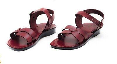 Men's Biblical Jerusalem Jesus Sandals Natural Leather Handmade 6-15 sizes