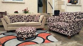 3 + Snuggle seat + footstool from Marks & Spencer / Sofa set