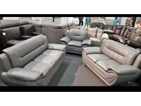 3+2+1 DESIGNER GREY LEATHER SOFA SET