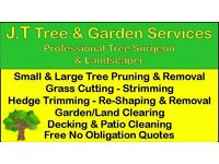 JT TREE &GARDEN SERVICES* New Year Special Offer 20% Off *