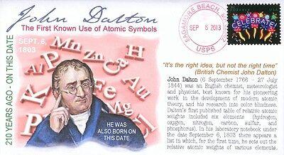 COVERSCAPE COMPUTER DESIGNED 210TH ANNIVERSARY CHEMIST JOHN DALTON EVENT COVER