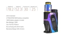 Ijoy Capo Squonk Kit Vape Mod Battery Charger FULL SETUP New boxed