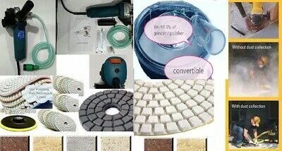 Variable Speed Stone Wet Polisher Grinder Polishing Granite Concrete Marble Pack