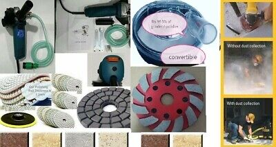 Wet Polisher Grinder Dust Shroud 38 Granite Concrete Polishing Pad Grinding Cup