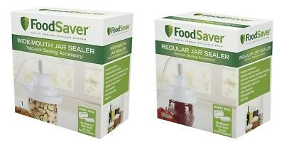 - FoodSaver T03-0006-02P Regular Mouth Jar Sealer and Wide Mouth Bundle
