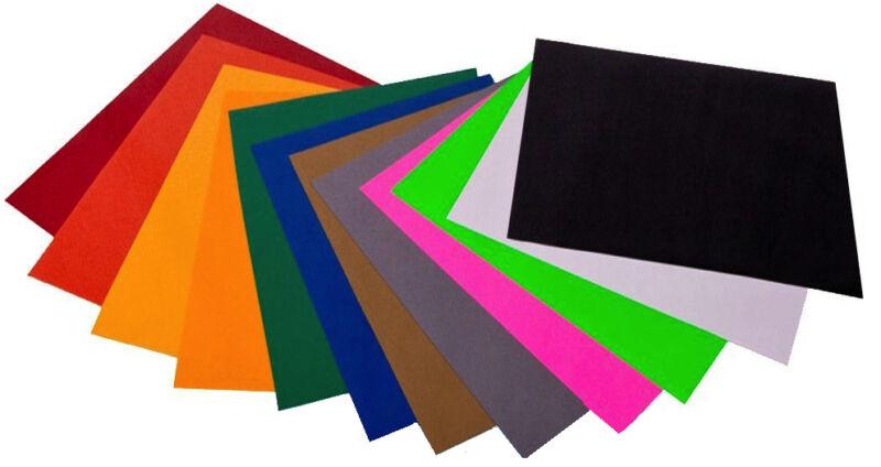 Heat Transfer Vinyl,  12-Color Starter BUNDLE for Silhouette Cameo, Cricut