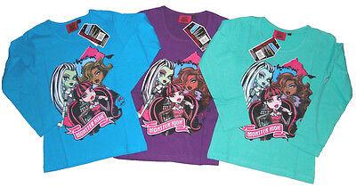 Monster High Langarmshirt in knalligen Farben langarm Shirt für Mädchen Clawdeen ()