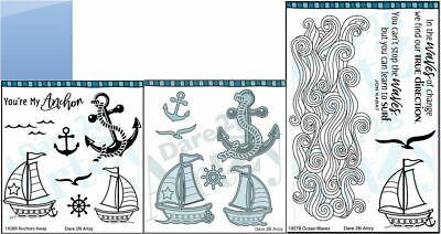 Dare 2B Artzy Clear Stamp & Die Combo ~ ANCHORS AWAY, OCEAN WAVES ~ Uplifting