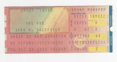Cheap Trick ticket stub NEW YEARS EVE Tue Dec 31,1985 (THE VIC - Chicago, IL)